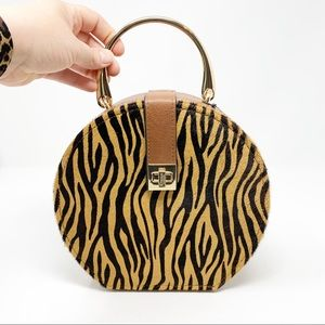 Dune | NEW Genuine Calf Hair Animal Print Purse